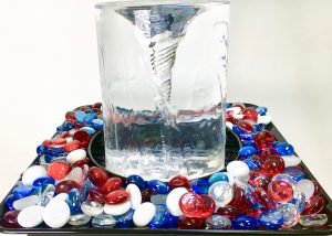 Celebrate your patriotism with the tabletop Quox Creek Vortex Fountain in Red, White & Blue!